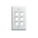 On-Q WP3406-WH 1-Gang Wallplate; Wall Box, (6) Receptacles, (6) Keystones, High Impact Flame Retardant Plastic, White