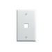 On-Q WP3401-WH 1-Gang Wallplate; Wall Box, (1) Receptacle, (1) Keystone, High Impact Flame Retardant Plastic, White
