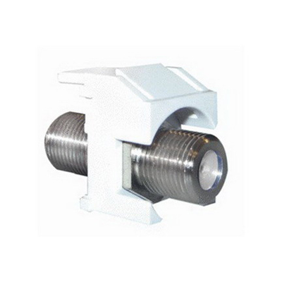 On-Q WP3481-WH Standard F-Type Connector Keystone Insert; M20 Screw/Wallplate or Strap Mount, White
