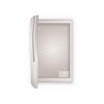 On-Q UX-430 Large Ilan Hinged Cover With Rings; Grayish White