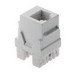 On-Q WP3425-WH RJ25 Female Connector; Wallplate or Strap Mount, 8P8C, White