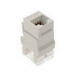 On-Q WP3450-WH Category 5e RJ45 Keystone Connector; Vertical Mount, 8P8C, White