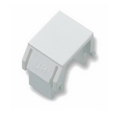 On-Q WP3455-WH Blank Keystone Insert; Snap-In/Wallplate/Strap Mount, Plastic, White