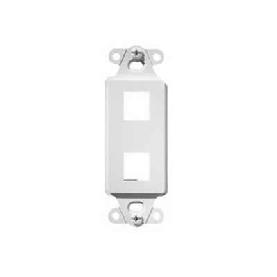 On-Q WP3412-WH 1-Gang Decorator Outlet Strap; Wall Box, (2) Receptacles, (2) Keystones, High Impact Flame Retardant Plastic, White