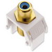 On-Q WP3464-WH RCA to F-Type Keystone Insert; M20 Screw/Wallplate or Strap Mount, White/Blue