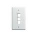 On-Q WP3403-WH 1-Gang Wallplate; Wall Box, (3) Receptacles, (3) Keystones, High Impact Flame Retardant Plastic, White