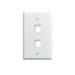 On-Q WP3402-WH 1-Gang Wallplate; Wall Box, (2) Receptacles, (2) Keystones, High Impact Flame Retardant Plastic, White