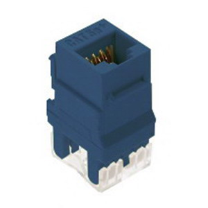 On-Q WP3450-BE Category 5e RJ45 Keystone Connector; Vertical Mount, 8P8C, Blue