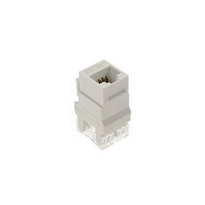 On-Q WP3450-WH-50 Category 5e RJ45 Keystone Connector; Vertical Mount, 8P8C, White