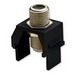 On-Q WP3479-BK Non-Recessed F-Type Keystone Coax Connector; Wallplate or Strap Mount, Black