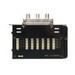 On-Q 364400-04 6 x 4 110-Punchdown Category 5e Telecom/Video Module; Enclosure Mount, 6 Telecom x 4 Video Port, Black
