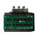 On-Q CO1045 10 x 8 RJ45/F-Type Connector/RJ31X Combo Module; Black