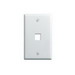 On-Q WP3401-WH-25 1-Gang Wallplate; Wall Box, (1) Receptacle, (1) Keystone, High Impact Flame Retardant Plastic, White