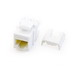 On-Q WP3476-WH Quick Connect Category 6A RJ45 Female Keystone Insert; Wallplate or Strap Mount, 8P8C, White