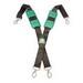 Gatorback 606 Suspender; Black and Green