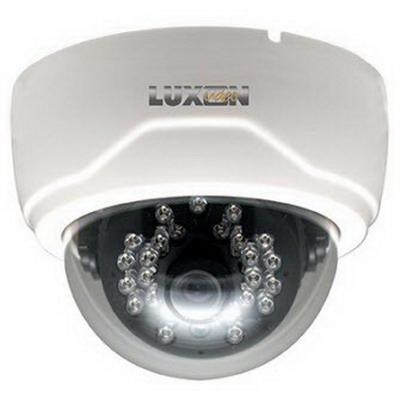"""""""""""Luxon D6W1IR 600 TVL Fixed Dome IR Camera 3.6 mm Lens, White,"""""""""""" 92526"""