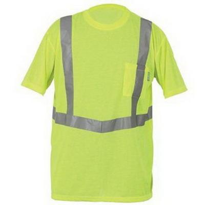 Lift Safety AVE-10L1L Viz-Pro Tee Shirt; X-Large, Polyester Knit, Hi-Viz Yellow