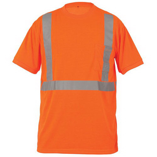 Lift Safety AVE-10EL Viz-Pro Tee Shirt; Large, Polyester Knit, Hi-Viz Orange