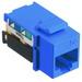 Hubbell Wiring NSJ5EB NetSelect® Universal A/B Standard Size Category 5e Modular Voice/Data Jack; Screw Mount, 8P, Blue