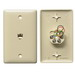 Hubbell Wiring NS730I NetSelect® 1-Gang Wall Jack Plate; Wall, Thermoplastic, Electric Ivory