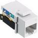 Hubbell Wiring NSJ5EW NetSelect® Universal A/B Standard Size Category 5e Modular Voice/Data Jack; Screw Mount, 8P, White