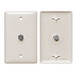 Hubbell Wiring NS750LA NetSelect® 1-Gang Molded-In Wall Jack Plate; Screw, Nylon, Light Almond