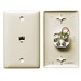 Hubbell Wiring NS730LA NetSelect® 1-Gang Wall Jack Plate; Wall, Thermoplastic, Light Almond