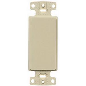 Hubbell Wiring NS620I 1-Gang Decorator Frame; Box/Wall/Strap, High Impact Nylon, Ivory
