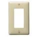 Hubbell Wiring NPJ26I 1-Gang Midsize Rectangular Wallplate; Screw, (1) Keystone, Nylon, Ivory