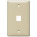 Hubbell Wiring NSP11W 1-Gang Multimedia Faceplate; Box/Flush, (1) Port, Keystone, Flame Retardant ABS, White