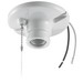 Hubbell Wiring RL8816 Incandescent Lampholder; 250 Volt, 660 Watt, 6 Inch Pigtail, Screw Mount, Porcelain, White