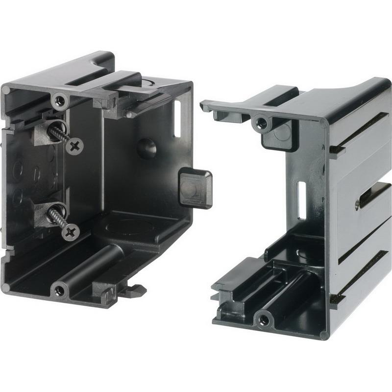 Arlington FES102 2-Gang Box; 3.500 Inch Depth, Plastic, Black