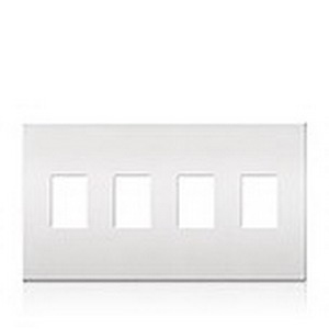 Lutron VWP-4-IV 4-Gang Decorator Wallplate; Wall Mount, Plastic, Ivory