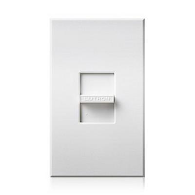 Lutron N-1000-LA Nova® Small Control Slide-To-Off Dimmer; 120 Volt AC, Light Almond Color Gloss Finish, Wall Box Mount