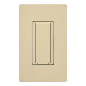 Lutron MA-AS-277-IV Maestro® Companion Digital Switch; 277 Volt AC, Ivory Color Gloss Finish, Wall Box Mount