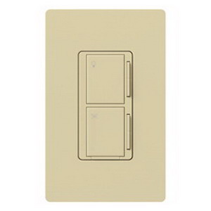 Lutron MA-ALFQ35-IV Maestro® Companion Dimmer With Fan Speed Control Switch; 120 Volt AC, 3.5 Amp, Tap On/Off, Ivory Color Gloss Finish