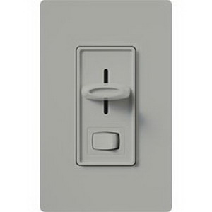 Lutron S-600PH-IV Skylark® Preset Slide Dimmer With Rocker On/Off Switch; 120 Volt AC, Ivory Color Gloss Finish, Wall Box Mount