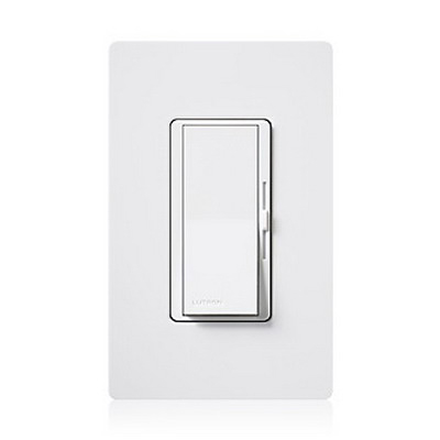 Lutron DVSCCL-153P-TP Diva® C.L™ 3-Way Preset Slide Dimmer With Paddle On/Off Switch; 120 Volt AC, Taupe Color Gloss Finish, Wall Box Mount