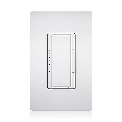 Lutron MA-600G-WH Maestro® eco-dim® Digital Fade Dimmer; 120 Volt AC, 5 Amp, White Color Gloss Finish, Wall Box Mount
