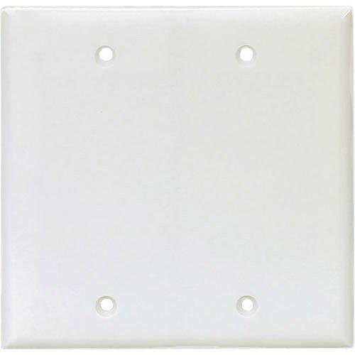 Cooper Wiring PJ23W 2-Gang Blank Wallplate; Box Mount, Abrasion/Impact Resistant Polycarbonate, White
