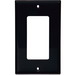 Cooper Wiring 5151BK Arrow Hart™ Eagle Standard Size 1-Gang Decorator/GFCI Wallplate; Flush Mount, Nylon, Black