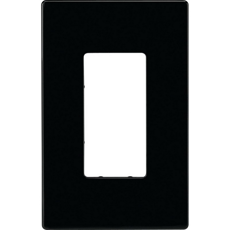 Cooper Wiring PJS26BK-SP Mid-Size Screwless 1-Gang Decorator Wallplate; Polycarbonate, Black