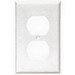 Cooper Wiring 2132W-BOX Arrow Hart™ Eagle 1-Gang Duplex Receptacle Wallplate; Thermoset Plastic, White, Device/Screw Mount