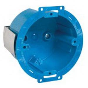 Carlon BH614R SuperBlue™ Round Old/New Work Box; 2-3/8 Inch Depth, Polycarbonate, 14.5 Cubic-Inch, Blue