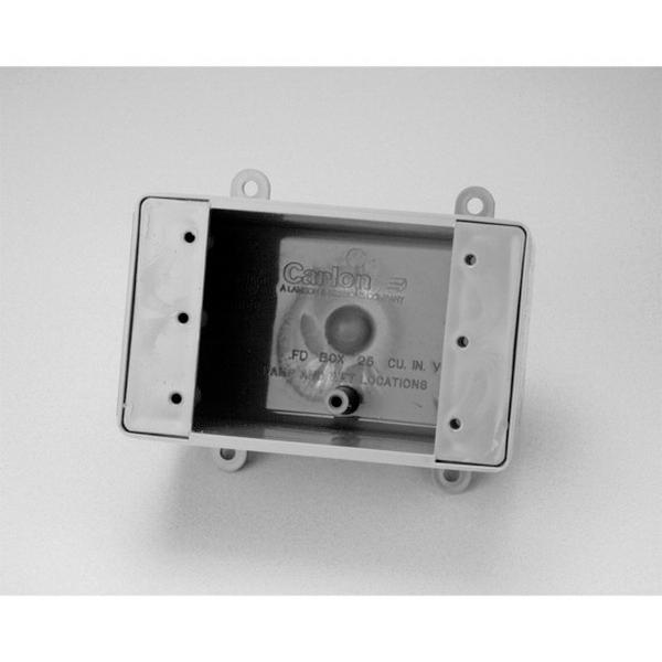 Carlon E9801 Deep Hubless 1-Gang FD Device Box; 2-3/4 Inch Depth, Non-Metallic, 25 Cubic-Inch