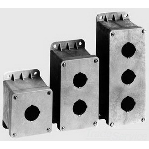 Carlon CP200N Circuit Safe 2-Hole Pushbutton Enclosure; Thermoplastic