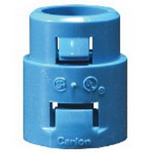 Carlon A253E Non-Metallic Terminal Adapter With Coupling; 3/4 Inch, Non-Metallic, 1-Piece, Male, Snap-In Mount