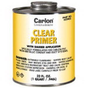 Carlon VC9902 PVC Primer With Dauber Applicator; 1 qt, Can, Clear