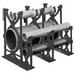 Carlon S288RLN Non-Metallic Base Spacer; 6 Inch x 3 Inch, PVC