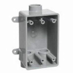Carlon E979DFN-CAR Shallow 1-Gang FSCC Electrical Switch Box; 2.420 Inch Depth, Non-Metallic, 18 Cubic-Inch, Gray, 1/2 Inch Hub